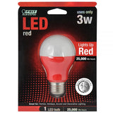FEIT Red LED A19 Bulb - 3 Watts