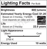 SWITCH Infinia 10 Watt - 800 Lumen - 60 Watt Equal Dimmable A19 LED