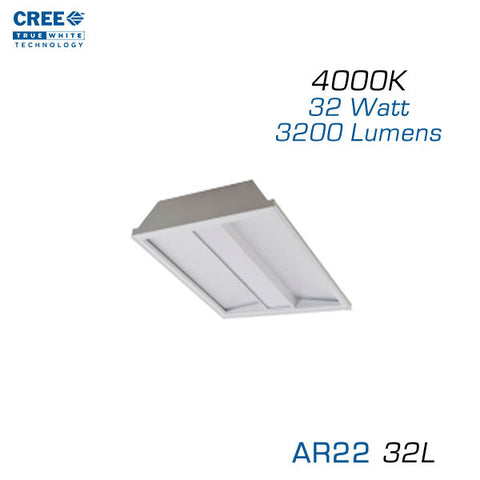 CREE AR22-32L-40K 2x2 Architectural LED Troffer