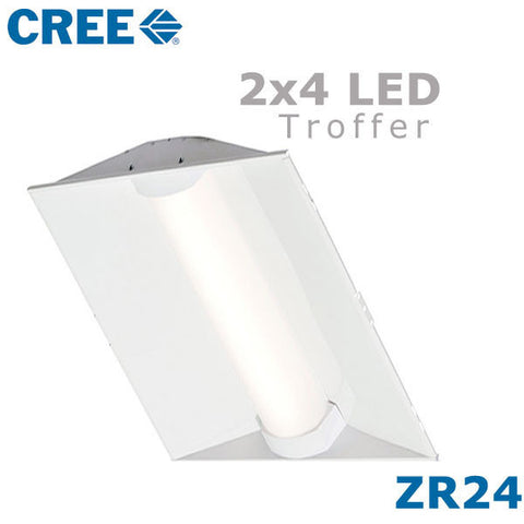 Cree ZR24-40L-40K-10V ZR Series 2 x 4 Troffer LED Light 44 Watt 120//277 Volt AC