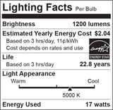 Euri PAR 38 LED - 17 Watt - 100 Watt Equal - High CRI - Dimmable - 40 Degree