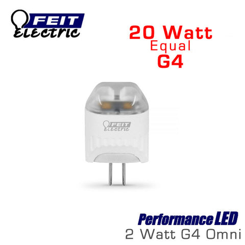 FEIT PerformanceLED G4 Base Halogen Replacements - 2 Watt - 160 Lumens - Warm White (3000K) - 20 Watt Equal