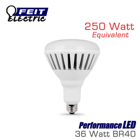 FEIT PerformanceLED BR40 - 36 Watt - 2500 Lumens - Warm White (3000K) - 250 Watt Equal