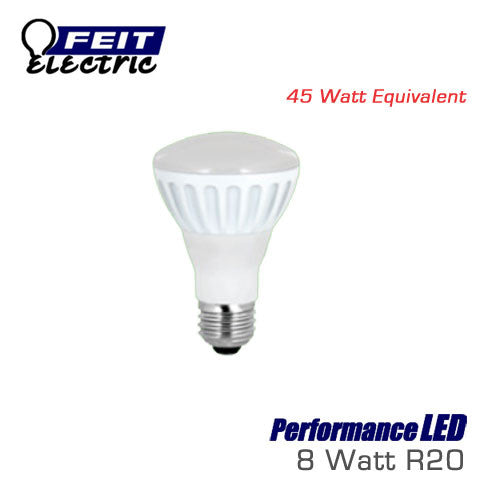 FEIT PerformanceLED R20 - 8 Watt - 450 Lumens - Soft White (2700K) - 45 Watt Equal