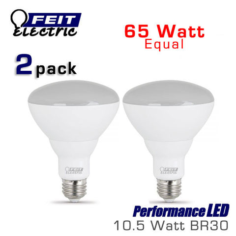 FEIT 10.5 Watt LED BR30 - 65 Watt Equal - 2 Pack