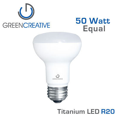 GREEN CREATIVE Titanium LED - 7.5 Watt - R20 - 50 Watt Equal