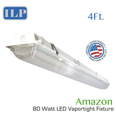 "ILP 48"" 80 Watt LED Vapor Tight Fixture 120-277V 5000K"