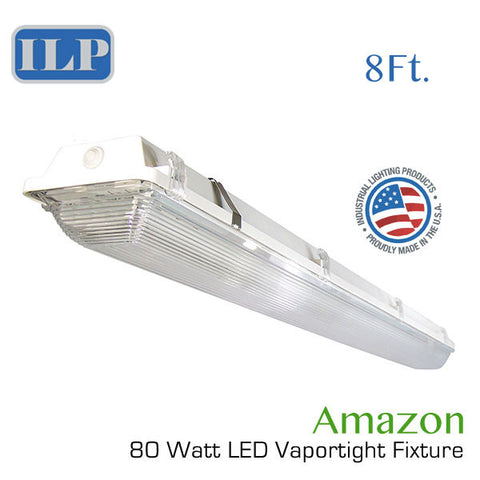 "ILP 96"" 80 Watt LED Vapor Tight Fixture 120-277V 5000K"