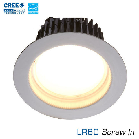 CREE LR6C LED Downlight - Edison Base - 3500K - Energy Star LED