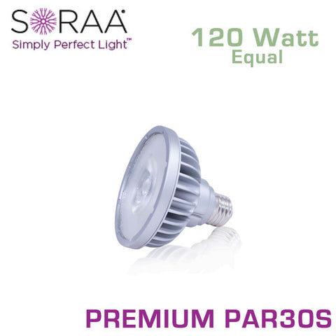 SORAA Premium PAR30 Short Neck 18.5W - 120 Watt Equal