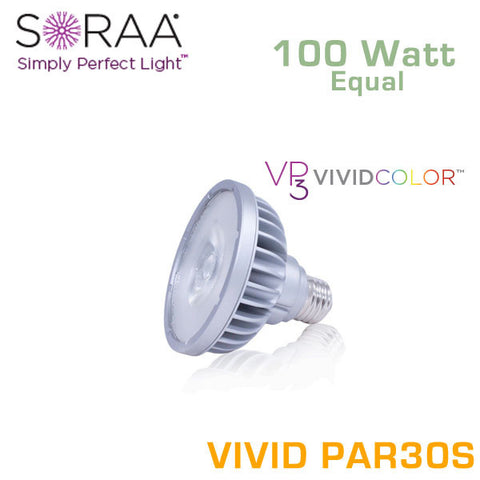 SORAA Vivid PAR30 Short Neck 18.5W - 100 Watt Equal - 95 CRI