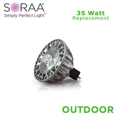 SORAA - Outdoor LED MR16 - 9.5 W - 35 W Equal