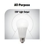 TCP Elite A19 - 10 Watt - 60 Watt Equal - Dimmable - Suitable for Fully Enclosed Fixtures