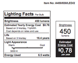 FEIT 40 Watt Equal LED A19 Light Bulb - Non-Dimmable - 3000K - 2 Pack