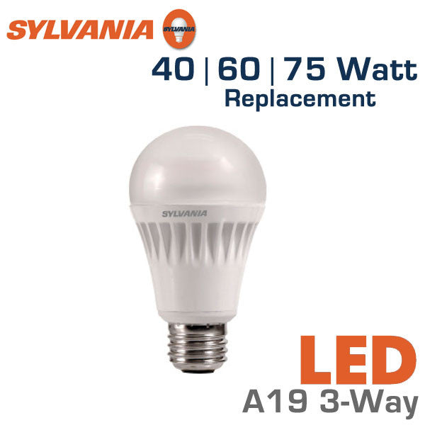 Led 3 way bulb 40 60 75 watt equal sylvania led13a19 3way 75164 3 way light bulbs