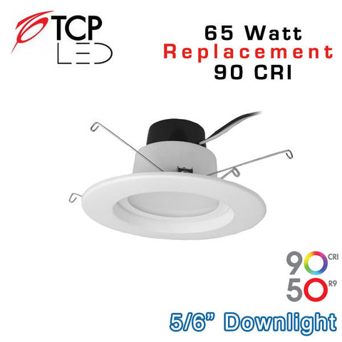 TCP 6 Inch - 14W LED Downlight - 65 Watt Equal - 90 CRI
