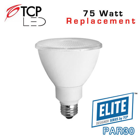 TCP Elite Designer PAR30 Long Neck - 12 Watt - 75 Watt Equal