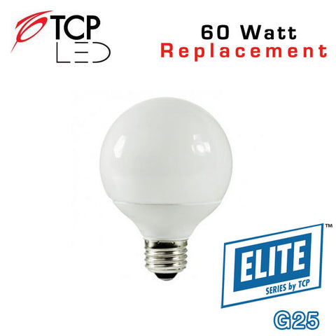 TCP Elite Deco - G25 - 8 Watts - 60 Watt Equal