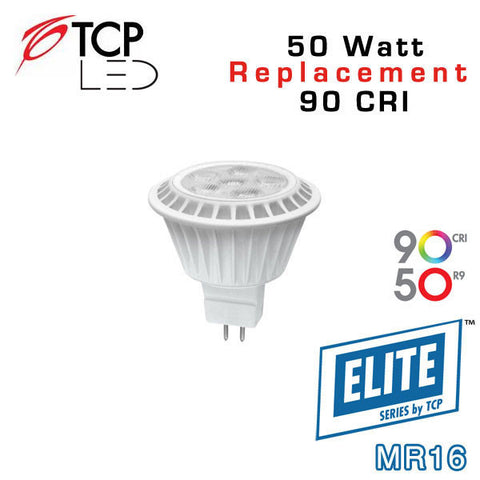 TCP Elite MR16 - 7 Watt - 50 Watt Equal - 90 CRI