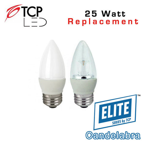 TCP Elite Deco - Candelabra - E26 Base - 4 Watts - 25 Watt Equal