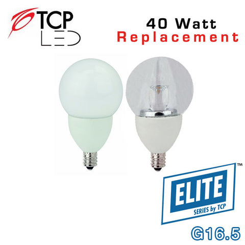 TCP Elite Deco - G16.5  - E12 Candelabra Base - 5 Watts - 40 Watt Equal