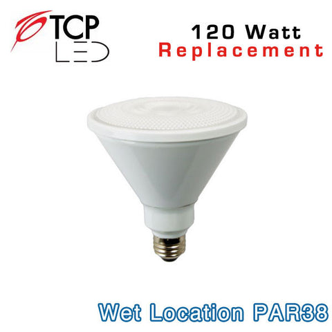 TCP Wet Location PAR38 - 17 Watt - 120 Watt Equal