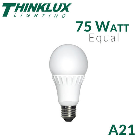 Thinklux A21 LED Light Bulb  - 12 Watt - 75 Watt Equal - Dimmable