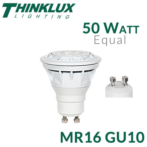 Thinklux LED MR16 GU10 - 6.5 Watt - 50 Watt Equal - Dimmable