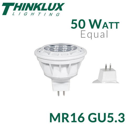 Thinklux LED MR16 GU5.3 - 7 Watt - 50 Watt Equal - Dimmable