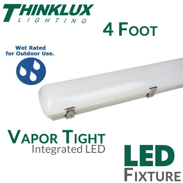 Thinklux 4 Foot Ip67 Vapor Tight Led Fixture 40 Watts