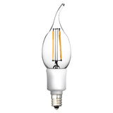 Euri Vintage Style LED Candelabra Filament Light Bulb - 4.5 Watt - 40 Watt Equal - Dimmable