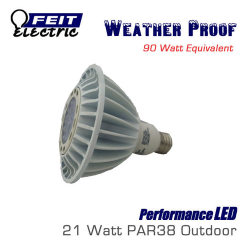 FEIT PerformanceLED PAR38 Weatherproof Flood - 21 Watt - 1200 Lumens - 38 Degrees - 90 Watt Equal