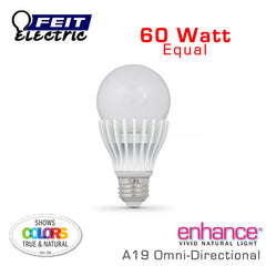 FEIT Enhance - 9.5 Watt A19 - 60 Watt Equal - 92 CRI