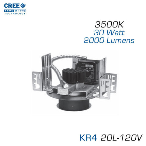 CREE KR4-20L-35K-120V LED Downlight - 4 Inch Aperture