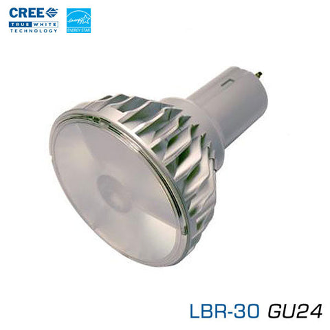 CREE LBR-30-GU24 - 12 Watt LED BR30 - 25 Degree Flood - GU24 Base - 2700K