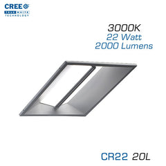 CREE CR22-20L-30K 2x2 LED Troffer - 22 Watts - 3000K - Step Dimming