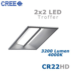 CREE CR22-32L-40K-S-HD 35 Watt 2x2 LED Troffer Light Fixture Step Dimming 4000K