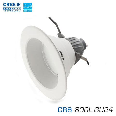 "CREE CR6-800L - 6"" Recessed Downlight - 12 Watts - 800 Lumens - Soft White - GU24 Base - 90 Watt Equal"