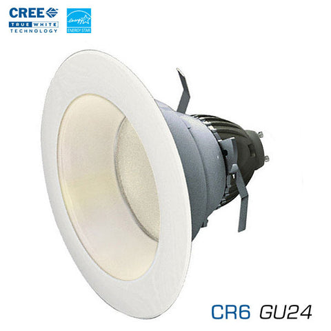 "CREE CR6-625L LED 6"" 625 Lumen LED Downlight - GU24 Base - Energy Star LED - Title 24 LED"