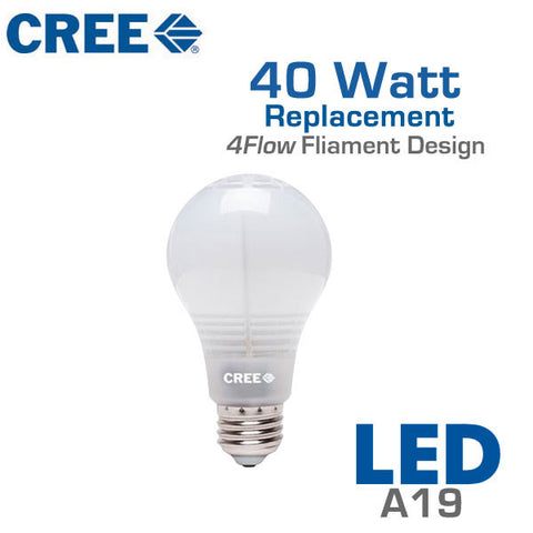 CREE LED Light Bulb - A19 - 6W - 40 Watt Equal - Dimmable - Shatterproof