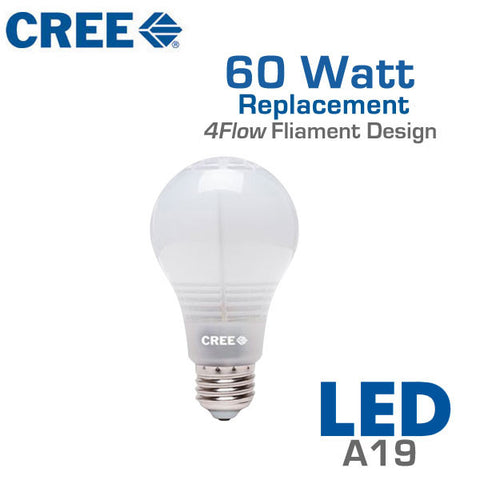 CREE LED Light Bulb - A19 - 11W - 60 Watt Equal - Dimmable - Shatterproof