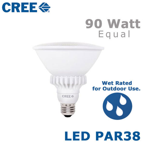 CREE LED PAR38  - 18 Watt - 90 Watt Equal - Outdoor Rated