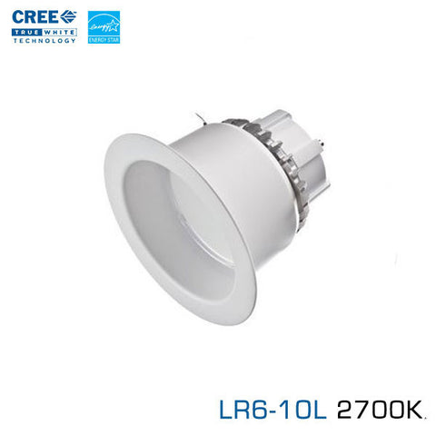 "CREE LR6-10L-27K - 6"" LED Downlight - 11 Watt - 1000 Lumens - Soft White (2700K)"