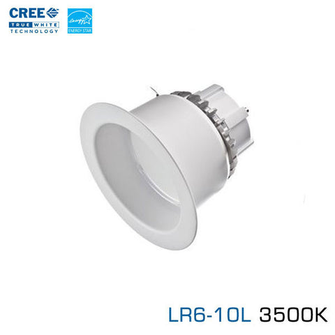 "CREE LR6-10L-35K - 6"" LED Downlight - 11 Watt - 1000 Lumens - Neutral White (3500K)"