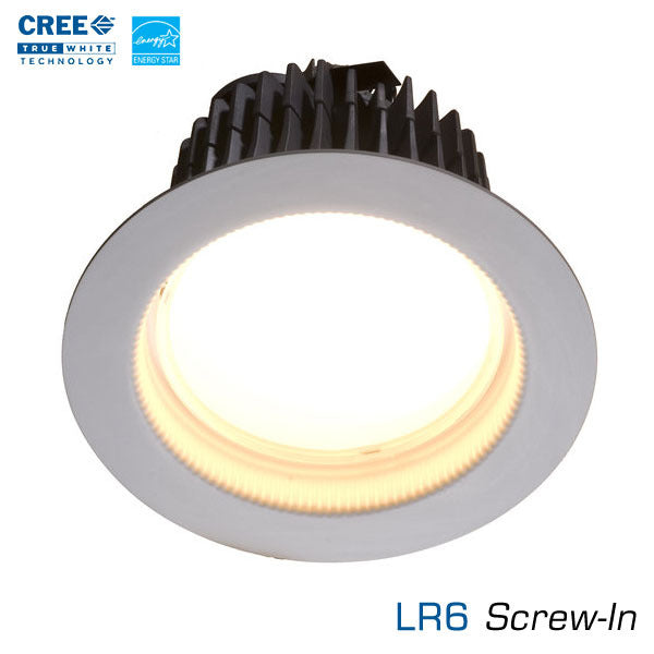 Cree Lr6 6 Inch Led Downlight Edison Base Lr6 Earthled Com