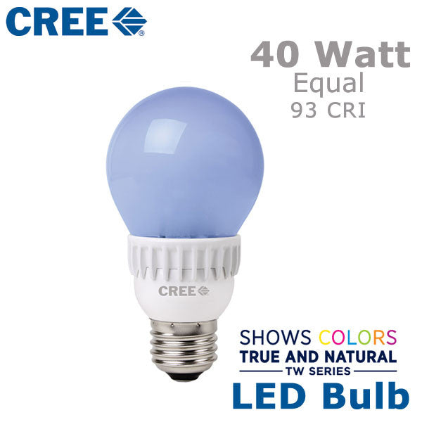 cree tw series led a19 bulb 8 5 watts 40 watt equal high cri. Black Bedroom Furniture Sets. Home Design Ideas