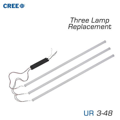 CREE UR Series LED Upgrade Kit for 3 Lamp, 4 Foot T8/10/T12
