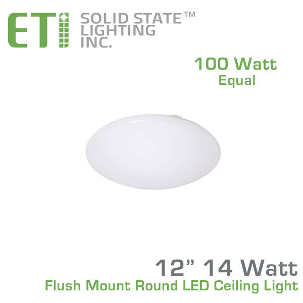 Eti 12 Inch Flush Mount Round Led Ceiling Light 54074143
