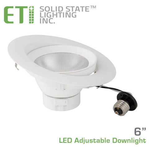 ETi 6-Inch LED Adjustable Downlight - 10 Watts