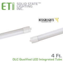 ETi T8 4' LED DLC Qualified Retro-Fit Integral Tube - 18 Watt - 50,000 Hours - 120-277 Volt